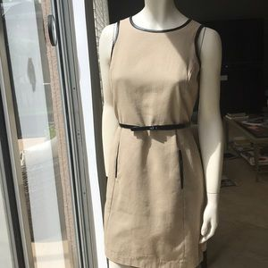 Michael Kors dress with (faux?) leather trim